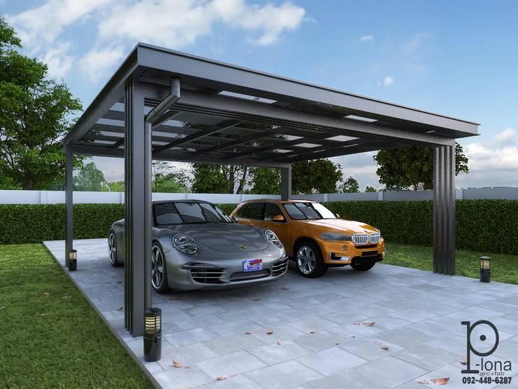 ออกแบบ 3D:  โรงรถและหลังคากันแดด by P-lona