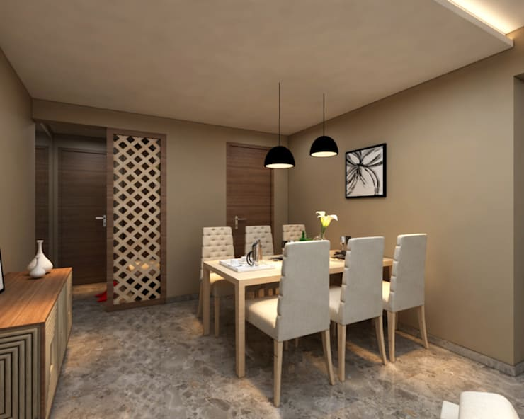 INTERIOR:  Dining room by Midas Dezign