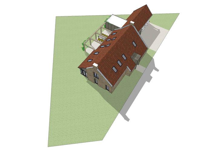 Vrijstaand woonhuis in landelijke omgeving:  Huizen door Bram Markerink Bouwkunst, Landelijk