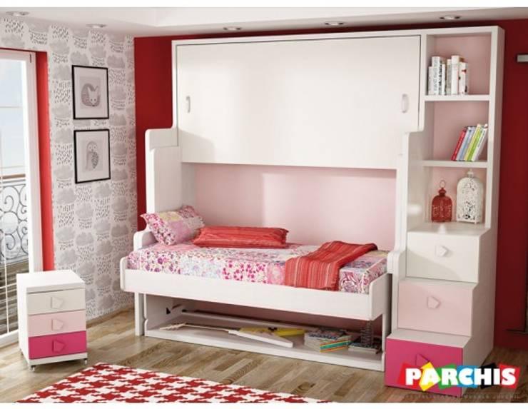 Habitaciones para espacios reducidos con cama escritorio for Muebles juveniles para espacios reducidos