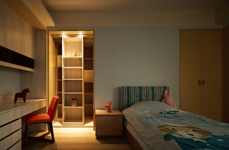 葛里法住宅設計:  嬰兒房/兒童房 by 墐桐空間美學