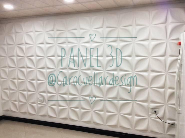 Panel 3D Board wall deco :  de estilo  por Carolina Cuellar diseño de ambientes