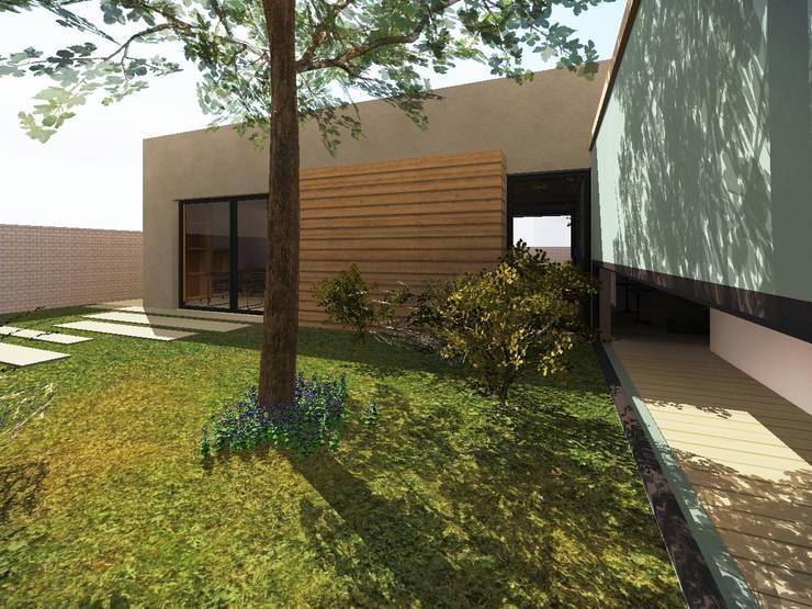 Patio interior: Jardines de estilo  por Estudio Pauloni Arquitectura ,Moderno