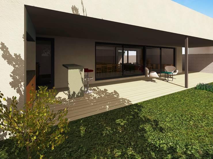 Galeria exterior : Casas de estilo  por Estudio Pauloni Arquitectura ,Moderno