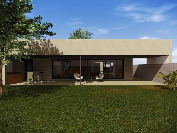 Contrafrente: Casas de estilo  por Estudio Pauloni Arquitectura ,Moderno
