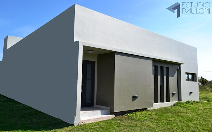Ingreso : Casas de estilo  por Estudio Pauloni Arquitectura