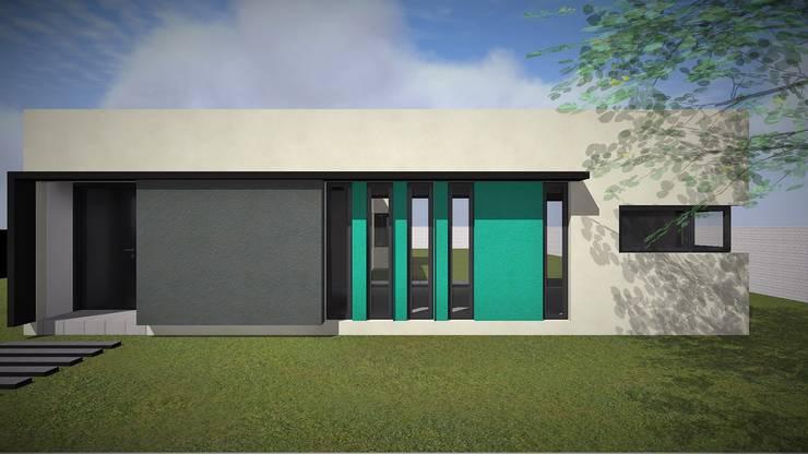 Modelo 3d / Frente: Casas de estilo  por Estudio Pauloni Arquitectura
