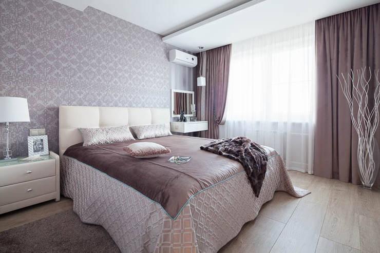 Светлая и уютная квартира для души: Спальни в . Автор – Pegasova design