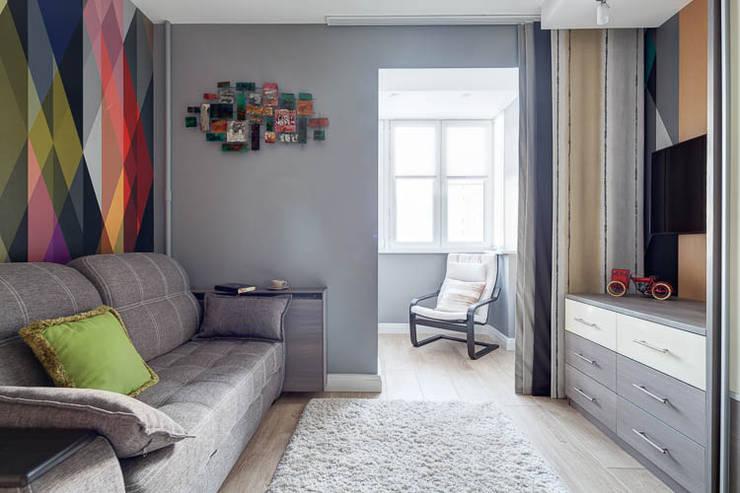 Светлая и уютная квартира для души: Гостиная в . Автор – Pegasova design