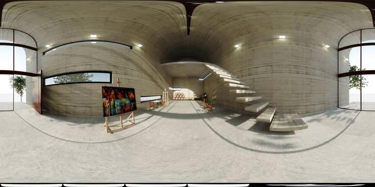 Art Warehouse / A31Architecture: Pasillos y vestíbulos de estilo  por Polygon Arquitectura, Industrial