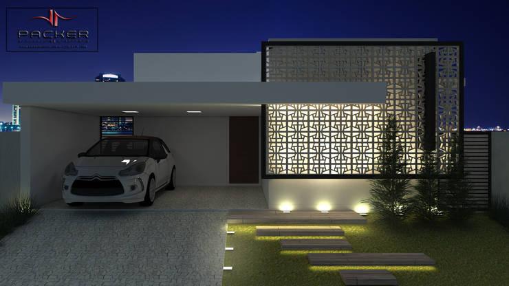 Casas de estilo  por PACKER arquitetura e engenharia
