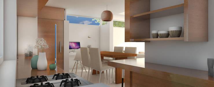 Modern dining room by Arquitecta Obadilla Modern