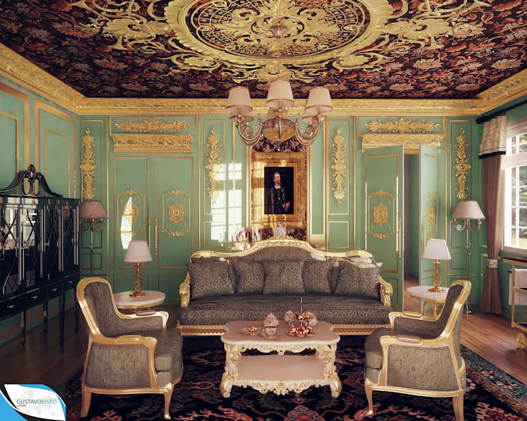 غرفة المعيشة تنفيذ Gustavo Bispo designer Unipessoal LDA