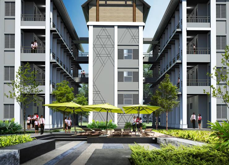 อาคารที่พักนักศึกษา  มหาวิทยาลัยราชภัฏลำปาง:   by PM DESIGN co.,ltd