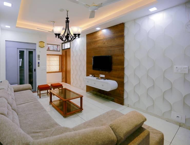 Salones de estilo moderno de ZEAL Arch Designs Moderno