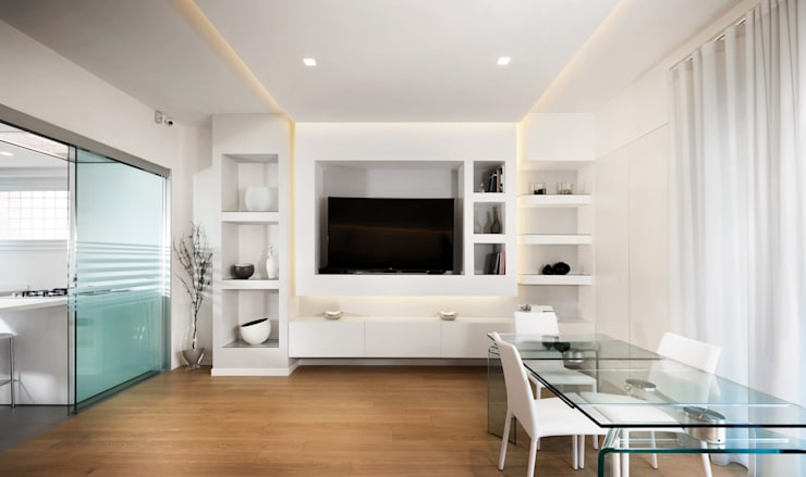 Salas / recibidores de estilo moderno por Gruppo Castaldi | Roma