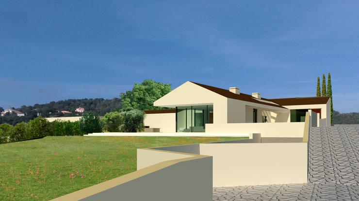 Villa Algarve Loule Portugal 37°10'N 7°59′W:  Huizen door MOTUS architects, Modern