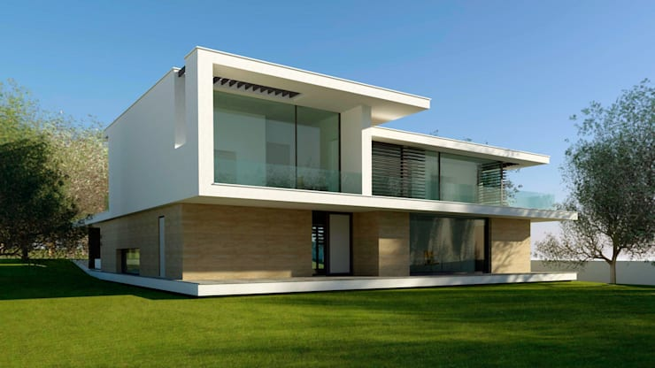 villa, modern:  Huizen door MOTUS architects, Modern