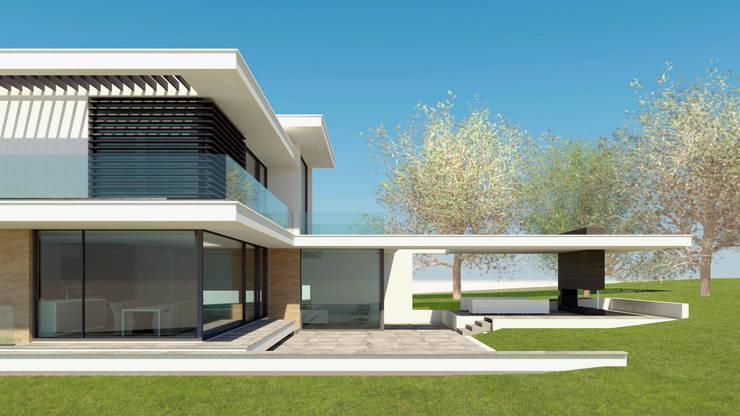 BOS VILLA Rhenen  51°58'N 5°34'O:  Huizen door MOTUS architects, Modern