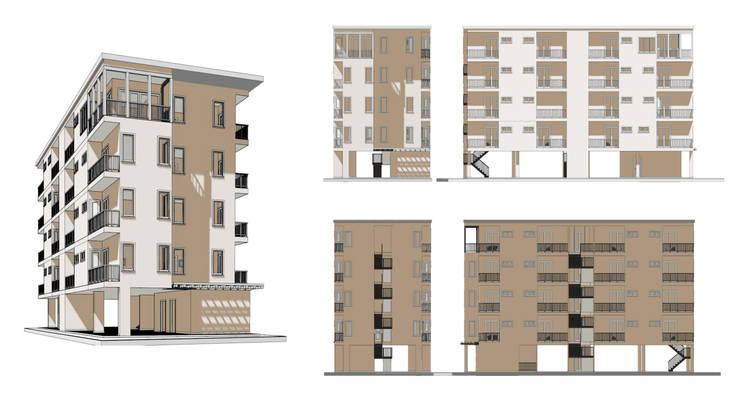 แบบอาคารพักอาคัย 5 ชั้น 29 ห้องนอน:   by th-design