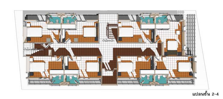 แบบอาคารพักอาคัย 5 ชั้น 29 ห้องนอน:  ตกแต่งภายใน by th-design