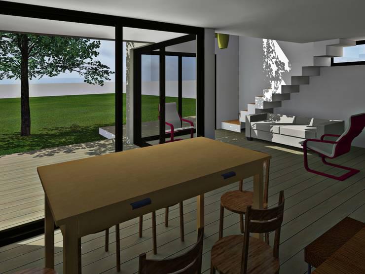 Interior comedor / 3d: Comedores de estilo  por Estudio Pauloni Arquitectura ,