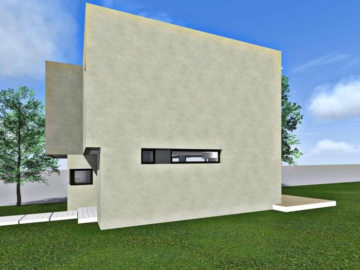 Vista lateral /3d: Casas de estilo  por Estudio Pauloni Arquitectura ,