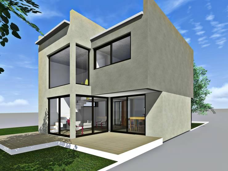 Contrafrente / 3d: Casas de estilo  por Estudio Pauloni Arquitectura ,