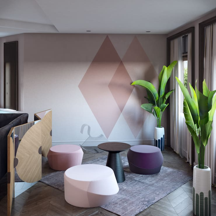 غرفة المعيشة تنفيذ Tina Gurevich