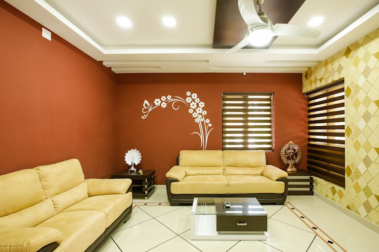 A Young & Youthful Design:  Living room by Premdas Krishna