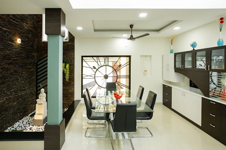 A Young & Youthful Design:  Dining room by Premdas Krishna