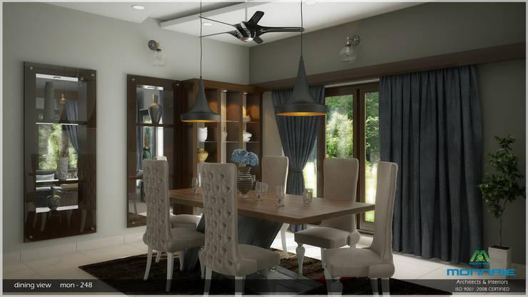 A Modern Elegant Feel: modern Dining room by Premdas Krishna