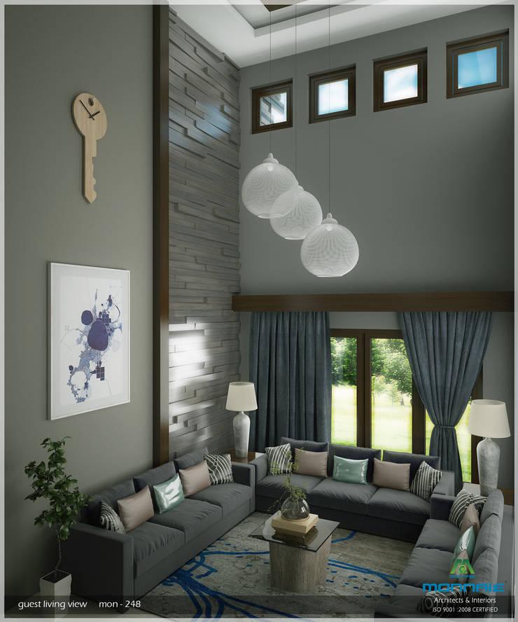 A Modern Elegant Feel:  Living room by Premdas Krishna