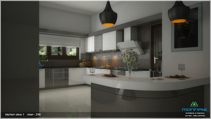 A Modern Elegant Feel: modern Kitchen by Premdas Krishna