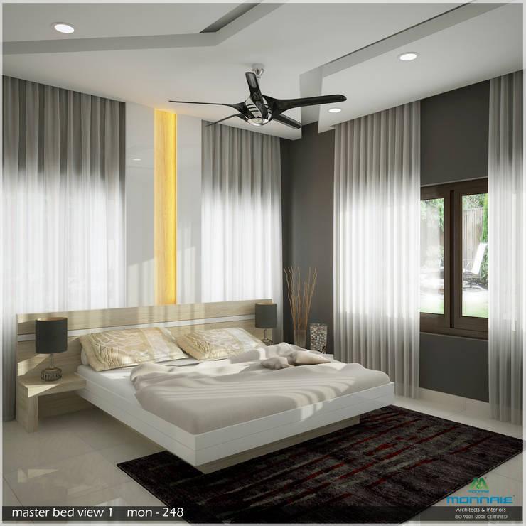 A Modern Elegant Feel: modern Bedroom by Premdas Krishna