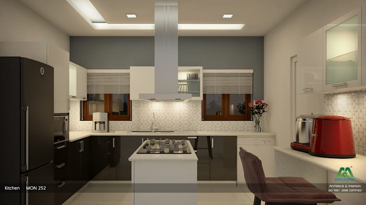 Foliage Beauty… :  Kitchen by Premdas Krishna ,Modern