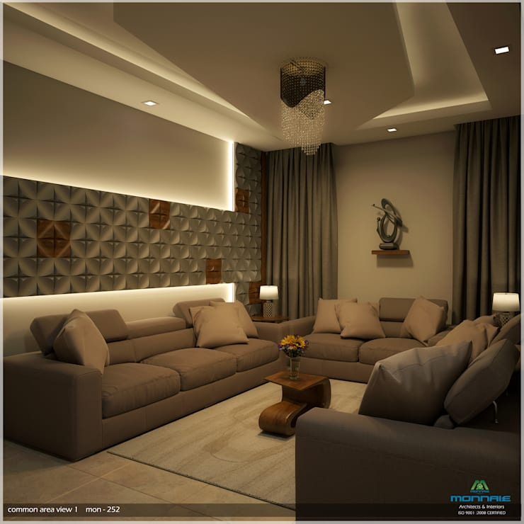 Foliage Beauty… :  Living room by Premdas Krishna ,Modern