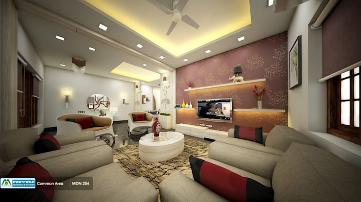 Feel Fresh with Vibrant Design: modern Living room by Premdas Krishna