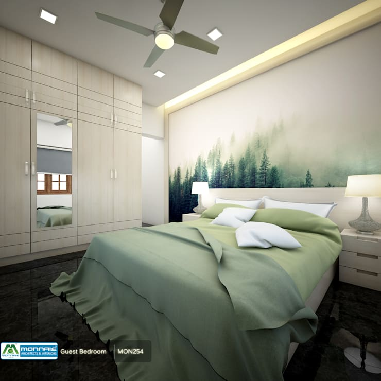 Feel Fresh with Vibrant Design: modern Bedroom by Premdas Krishna