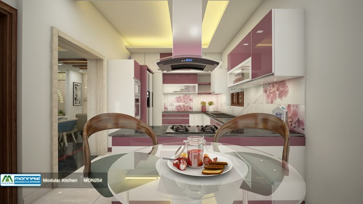 Feel Fresh with Vibrant Design: modern Kitchen by Premdas Krishna