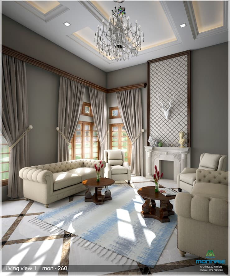 Grand & Striking: classic Living room by Premdas Krishna