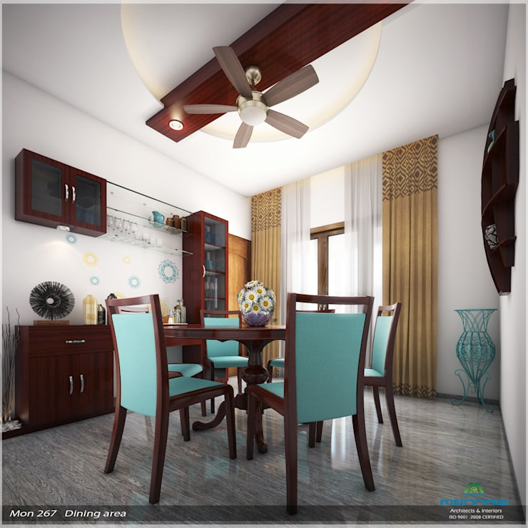 Imposing Design...:  Dining room by Premdas Krishna