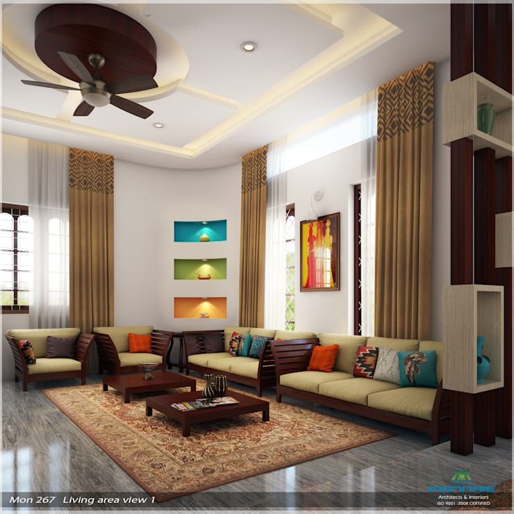 Imposing Design...:  Living room by Premdas Krishna