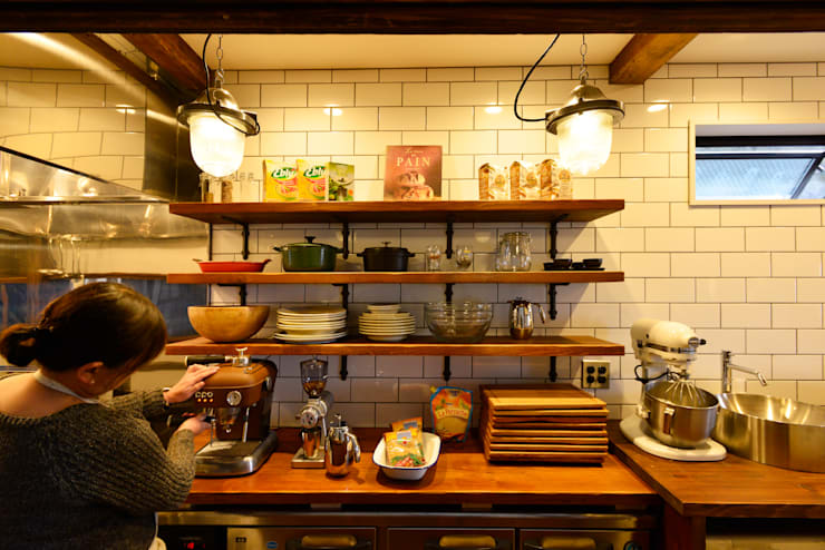 ブルックリンスタイルの厨房: 株式会社SHOEIが手掛けたキッチンです。,オリジナル