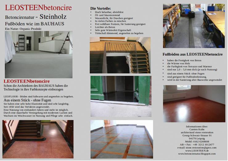Fußboden Ohne Beton ~ Leosteen von leosteen steinholz farbiger beton aus naturstoffen
