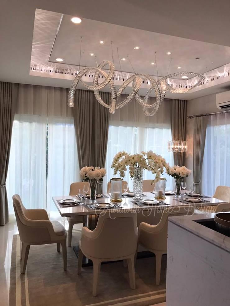 งานตกแต่งบ้านตัวอย่าง ม.ลัดดารมย์ ราชพฤกษ์-ติวานนท์ :   by Aurawan Home Design Co.,Ltd
