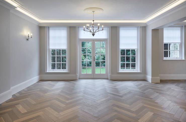 Hampstead Heath Home Salas de estilo minimalista de Jigsaw Interior Architecture Minimalista Madera Acabado en madera