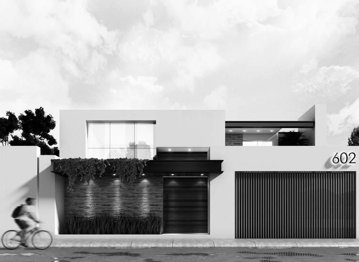 Propuesta de fachada exterior 2: Casas de estilo  por Besana Studio