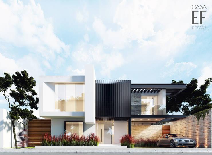 Propuesta de fachada interior 1: Casas de estilo  por Besana Studio