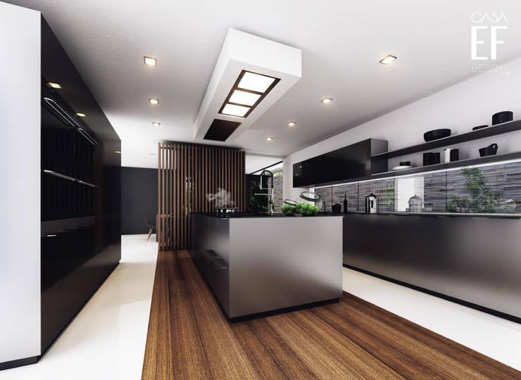 CASA EF: Cocina de estilo  por Besana Studio